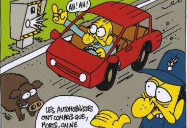 """""""Ces gros cons d'automobilistes"""" : quand Charb justifiait la répression (Charlie Hebdo, 2011)"""