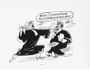 Caricatures automobile Charlie Hebdo permis à points