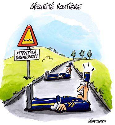 ralentisseurs appelés gendarmes couchés