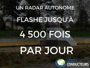 radar autonome flashe 4500 fois par jour