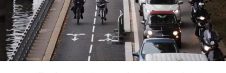 Manifestation insolite: Rouler en auto sur les pistes cyclables d'Hidalgo