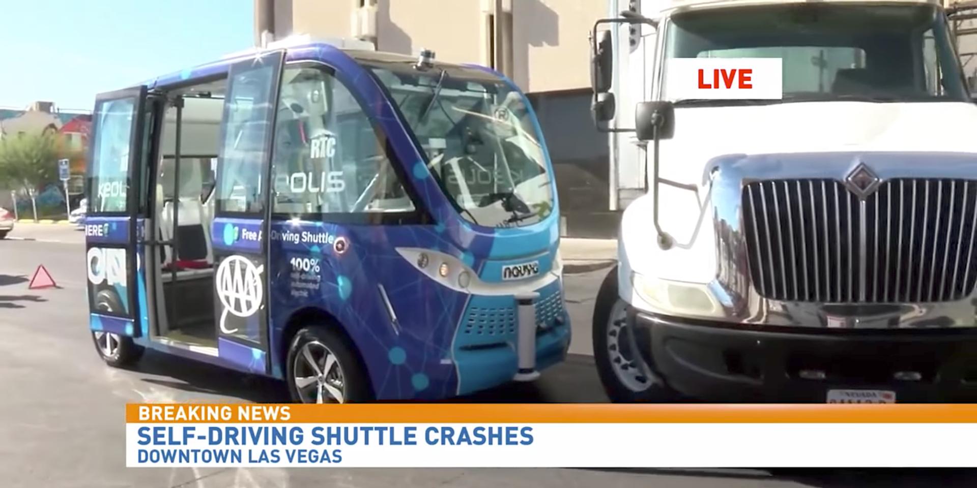 Le bus autonome de Las Vegas a eu un accident lors de son premier jour de service