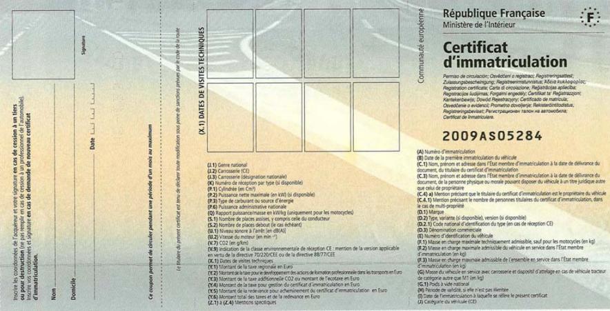 Quels sont les papiers obligatoires pour faire une carte grise ?
