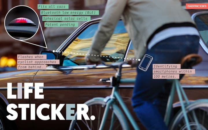 Alerte cycliste à poser sur le rétroviseur