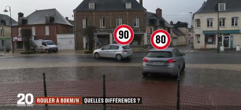 Le journal de France 2 aurait-il bidonné un test pour défendre le 80 km/h ?