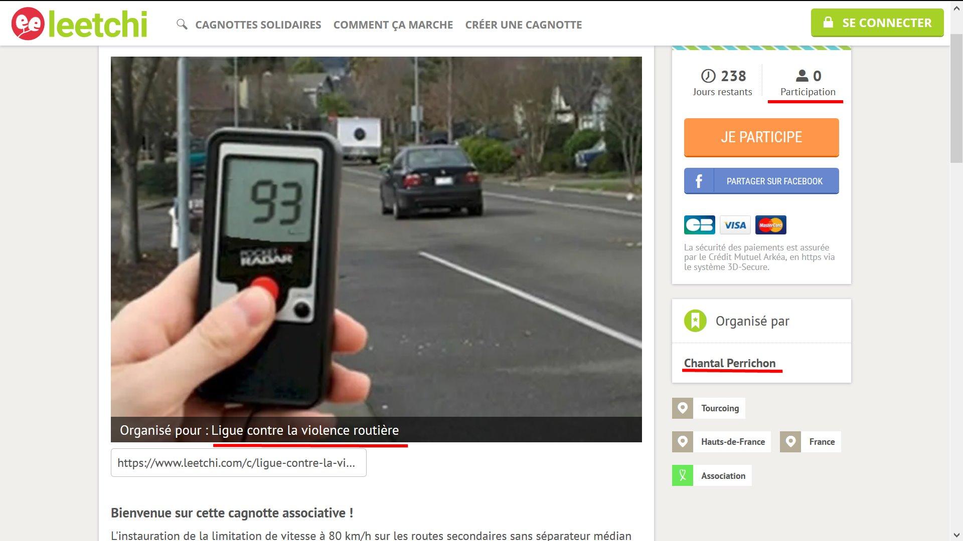 La Ligue contre la violence routière crée une cagnotte pour acheter des radars: Zéro donateur
