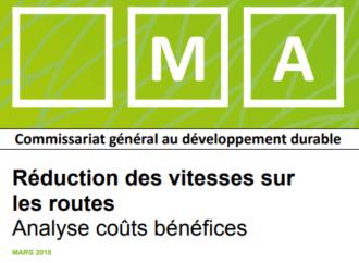 Un abaissement des limitations de vitesse de 130 km/h à 110 coûterait 1,15 milliards d'euros (ministère de l'écologie/THEMA)